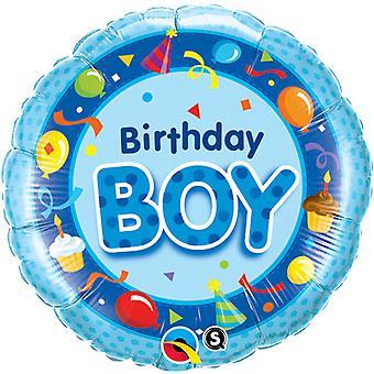 Qualatex 18 Inch Circular Foil Birthday Boy Balloon