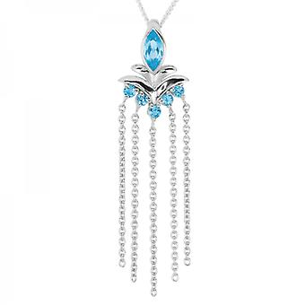 Shipton and Co Ladies Shipton And Co Silver And Blue Topaz Pendant Including A 16 Silver Chain PQA605BT