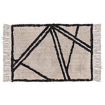 Villa Collection Cotton Rug, Black