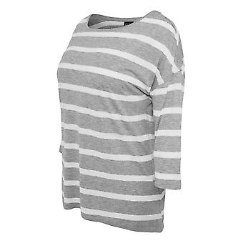 Urban classics ladies loose striped tee
