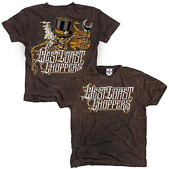West Coast choppers mens T-Shirt Onride Brown