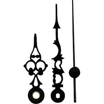 Clockhand set Antique finish Aluminium Black Slot