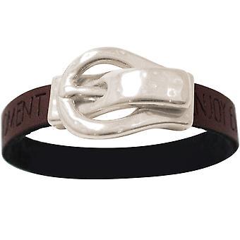 Gemshine Armband WISHES Braun Dunkel Gürtel Schnalle Magnetverschluss