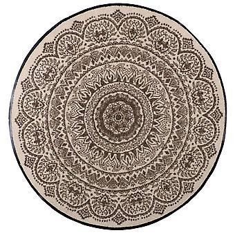 Felpudo de León salón turrón medallón redondo tapete de suciedad lavable de 85 cm