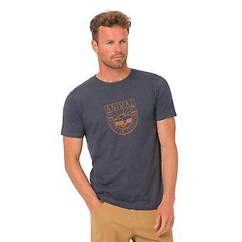 Animal Isle Short Sleeve T-Shirt in Dark Navy Marl