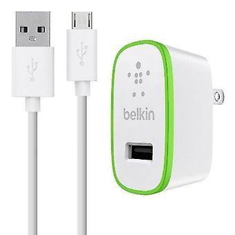 Belkin 2.1A Home Charger w/ 4' Micro USB Cable - White