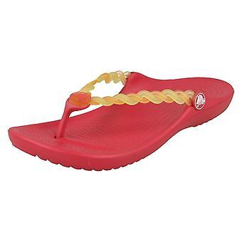 Piger Crocs tå indlæg sandaler Chmlns Tns væve Flp