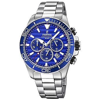 Festina Mens Stainless Steel Chronograph Blue Dial F20361/2 Watch