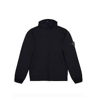 Stone Island Junior Stone Island Junior Navy Soft Shell-R Concealed Hood Jacket