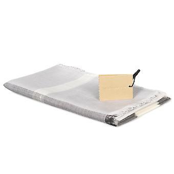 Burberry könnyű Check gyapjú és selyem sál | Halvány szürke
