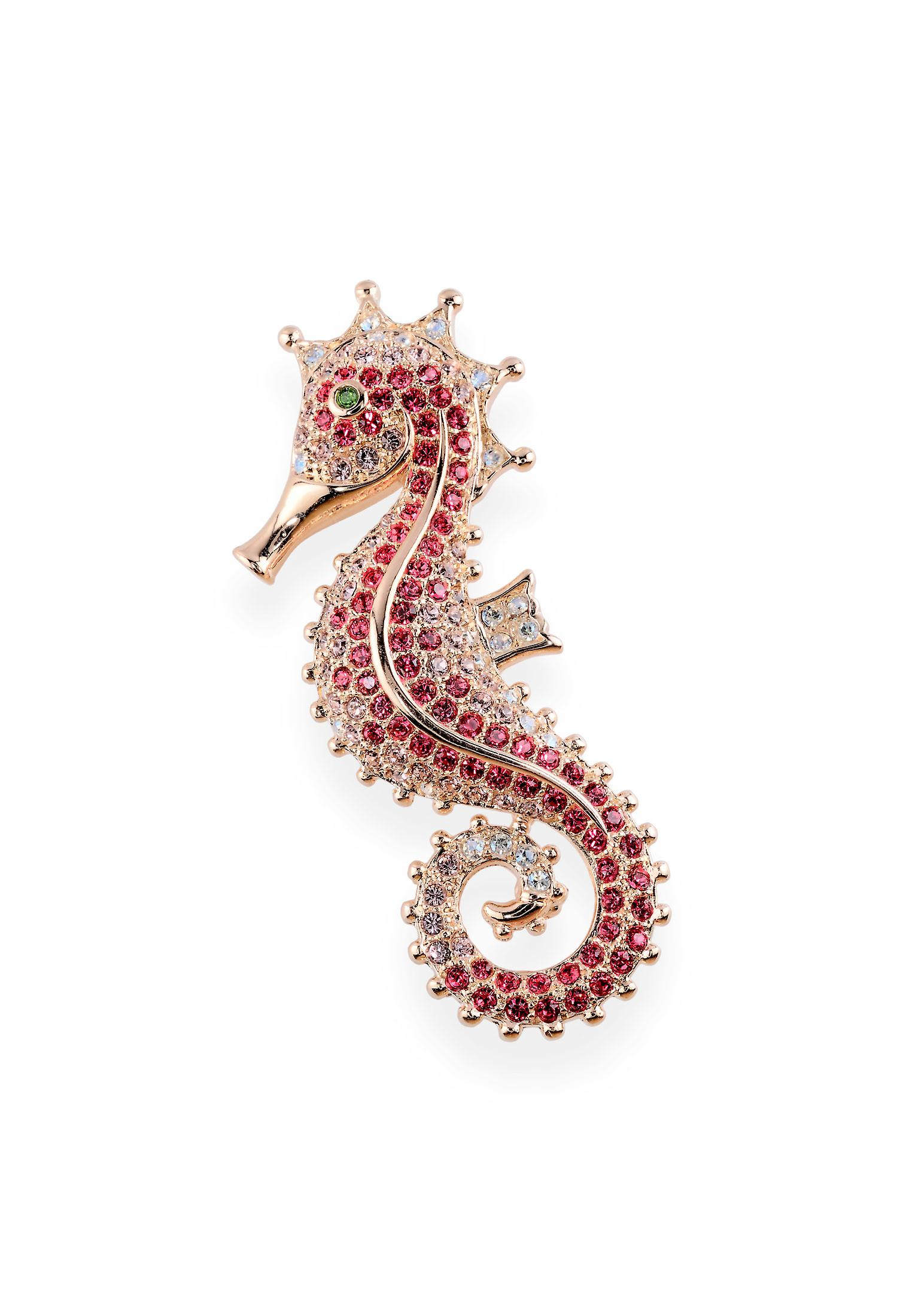 Multicolor brooch with crystals from Swarovski 7084