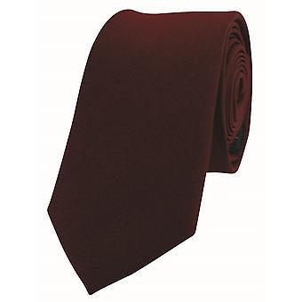 David Van Hagen Luxury ohut Satiini silkki solmio - viini