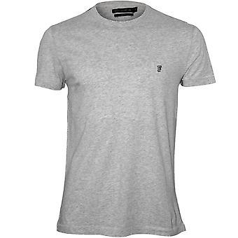 Ranskan yhteys Crewneck Jersey t-paita, vaalea harmaa meleerattu