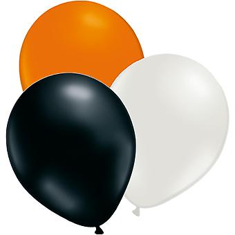 "12 pcs ballons Orange, blanc et noir-12 ""(30cm)"