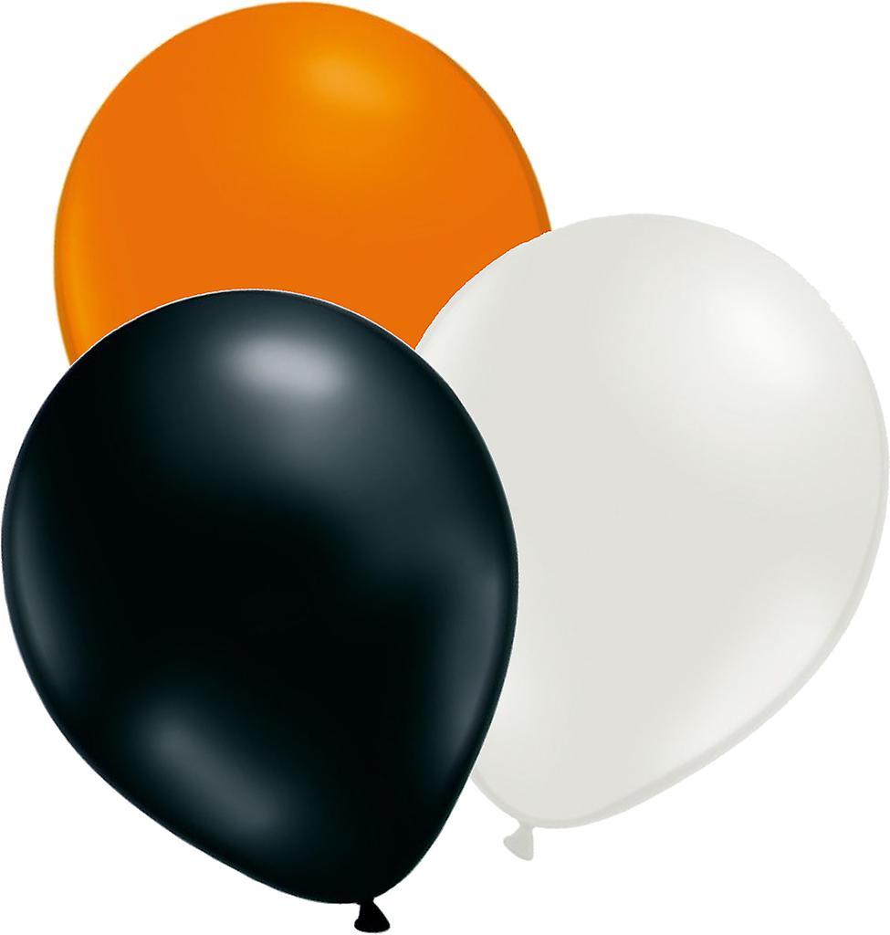 24 st ballonger Orange, vit och svart - 12