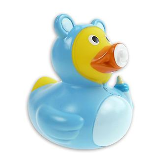 Duck baby blue blue, plastic, with dummy.