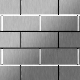 Metalowa mozaika ze stali nierdzewnej Alloy Subway-S-S-B