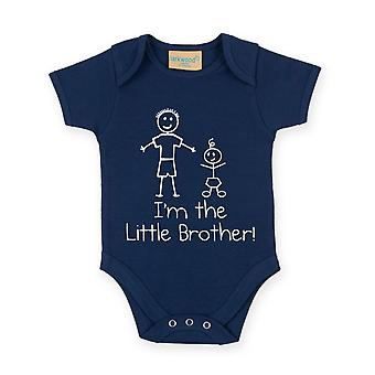 I'm The Little Brother Navy Blue Baby Grow