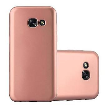 Cadorabo Hülle für Samsung Galaxy A3 2017 hülle case cover - Handyhülle aus flexiblem TPU Silikon – Silikonhülle Schutzhülle Ultra Slim Soft Back Cover Case Bumper