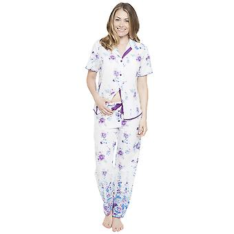 Cyberjammies 4094 vrouw Andrea White Floral Print pyjama's Top