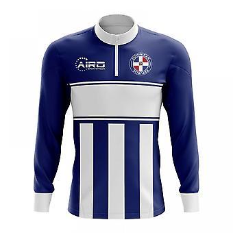 Dominikanske Republik koncept fodbold halvdelen Zip Midlayer Top (Navy-hvid)