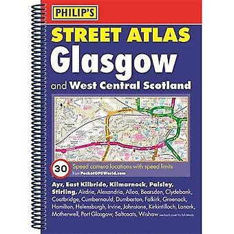 Philip's Street Atlas Glasgow and West Central Scotland: Spiral Edition