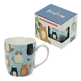 Puckator Cute Cat Bone China Mug