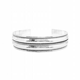 Dobbelt række Sterling sølv armbånd snoet Design mødre dag gave