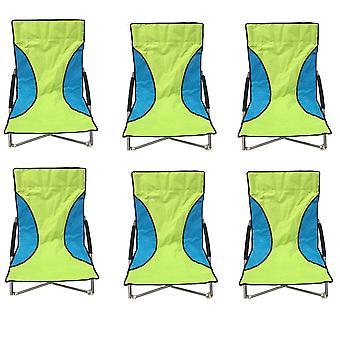 6 verde Nalu dobradura baixo assento cadeira Camping cadeiras de praia