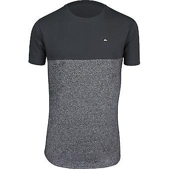 Quiksilver Mens Kuju Crew Shirt - Dark Gray Heather/Black