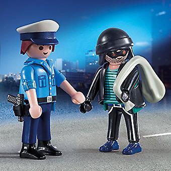 Playmobil Duo-paketti poliisi ja murto varas