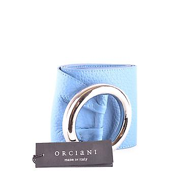Orciani Ezbc136016 Women's Light Blue Leather Belt