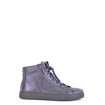 Stokton Ezbc270003 Femmes-apos;s Blue Leather Hi Top Sneakers