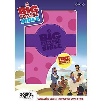 The NKJV Big Picture Interactive Bible - Purple/Pink Polka Dot Leathe