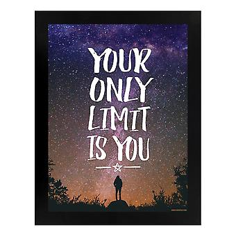 Grindstore Your Only Limit Is You Wooden Framed Mini Poster
