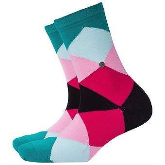 Burlington Bonnie Socks - Green/Pink/Black