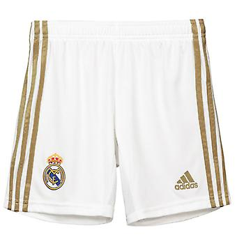 2019-2020 Real Madrid Adidas Home Shorts (alb)-copii