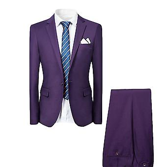 Allthemen Herenkostuums 2-delige suits slim fit Business Casual blazer & broek & vest