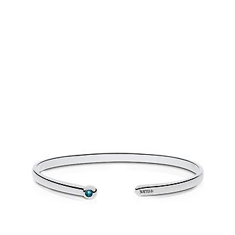 Seattle Mariners indgraveret Sterling Silver London Blue Topaz Cuff armbånd