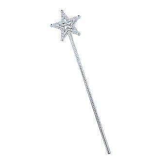 Bnov Silver Star Wand Clear Star Gem