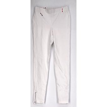 Slimming Options for Kate & Mallory Side Zipper Leggings White A417363