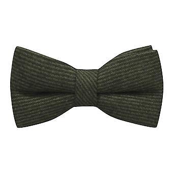 Scuro verde & nero dello zigrino Stripe Bow Tie