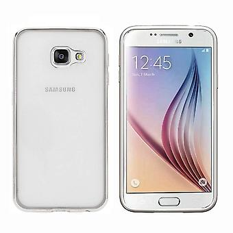 Samsung A7 2016  Hoesje Zilver - Bumper Backcover Clear