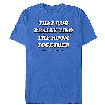 Big Lebowski Rug Tied The Room Together Blue Tee Shirt