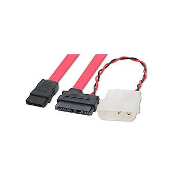 Wicked Wired 15cm 15Pin SATA Power & 80cm SATA Data Cable