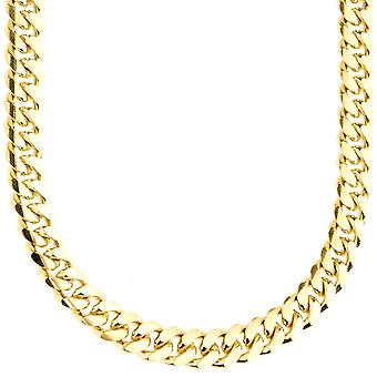 Sterling 925 silver tank chain - MIAMI CUBAN 8mm gold