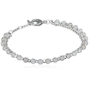 Fossil Women's bracelet in stainless steel with Transparent Beads