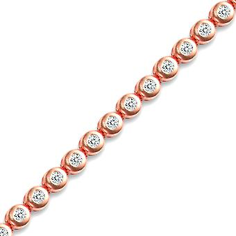 Jewelco London Rose Gold-plated sterling silver cubic zirconia tennis bracelet