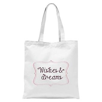 Wishes & Dreams Tote Bag - White