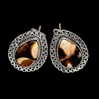 Peanut Wood Jasper 925 Sterling Silver Earrings 3/4